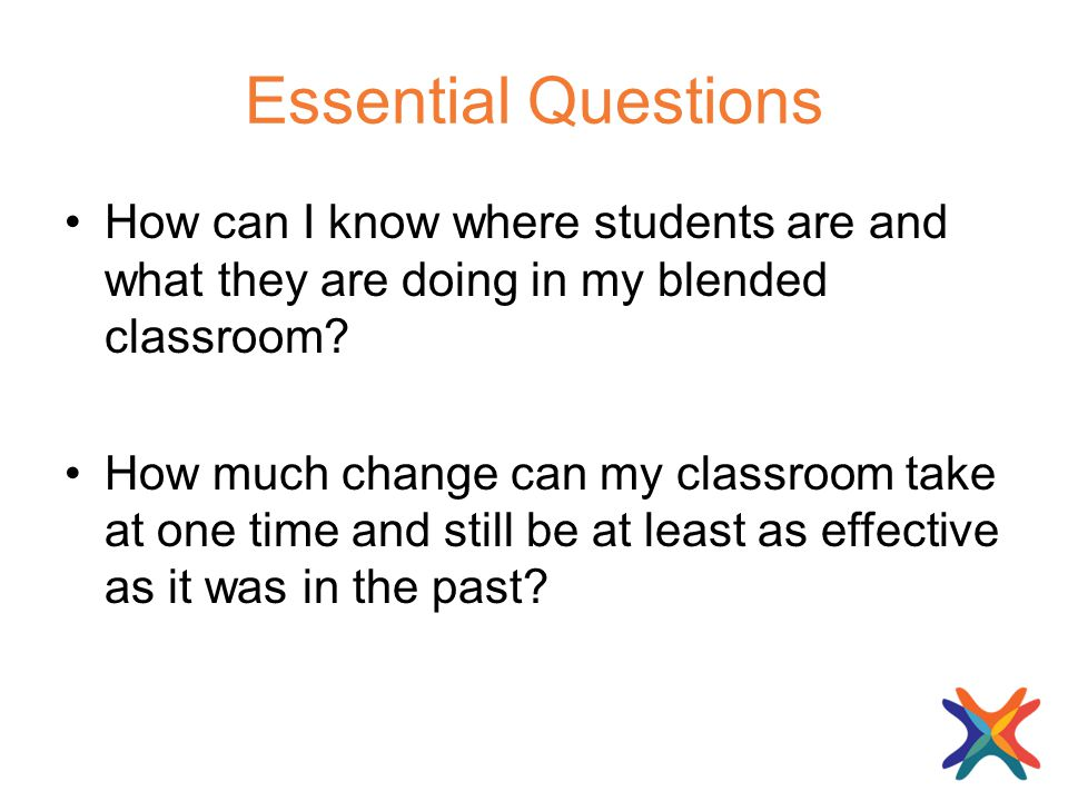 Essential Questions How can I know where students are and what they are doing in my blended classroom.