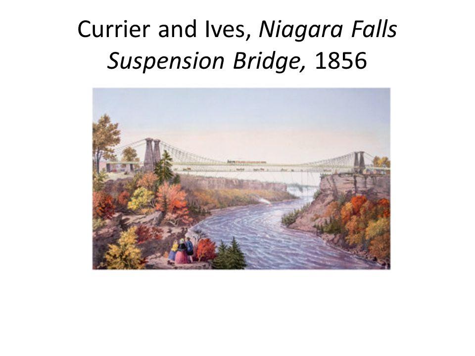 Currier and Ives, Niagara Falls Suspension Bridge, 1856