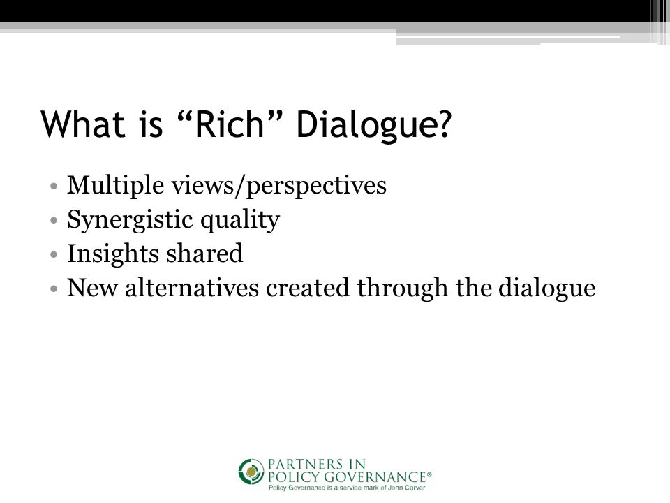 What is Rich Dialogue.