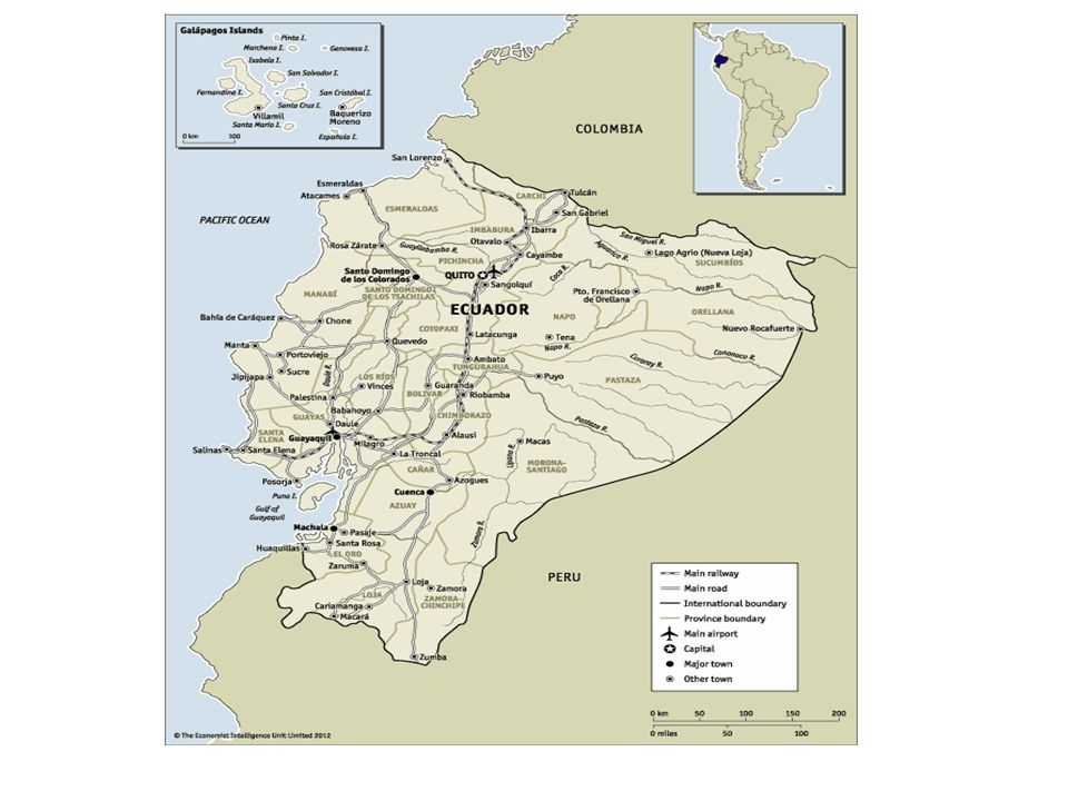 Ecuador Ecuador at a glance: 2013-17 OVERVIEW Ecuador is currently enjoying a period of relative political stabiilty.