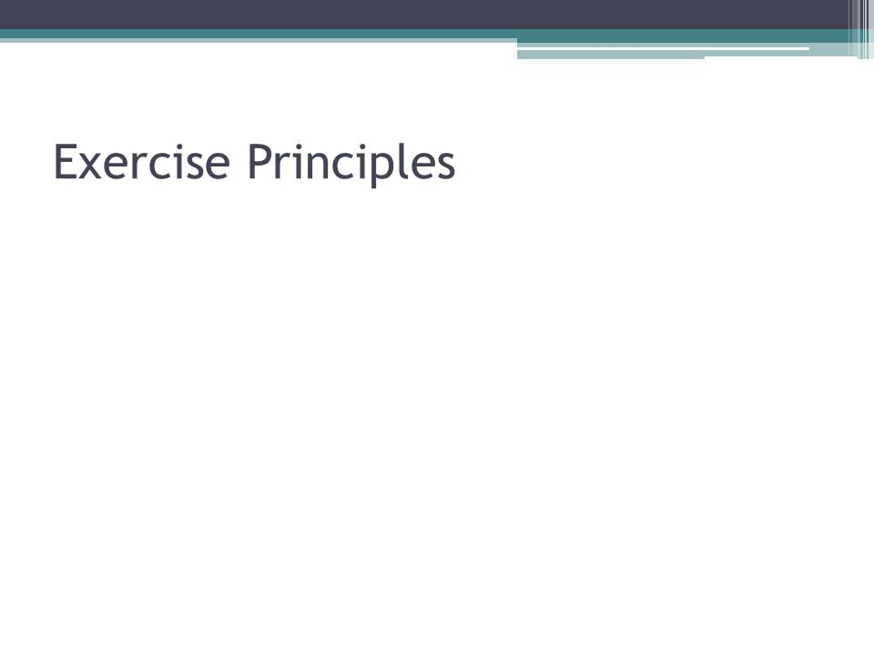 Exercise Principles
