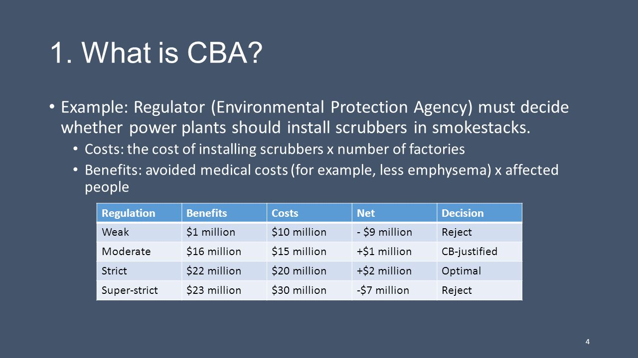 What is CBA?, cont.Issues and problems Informal or rigorous.
