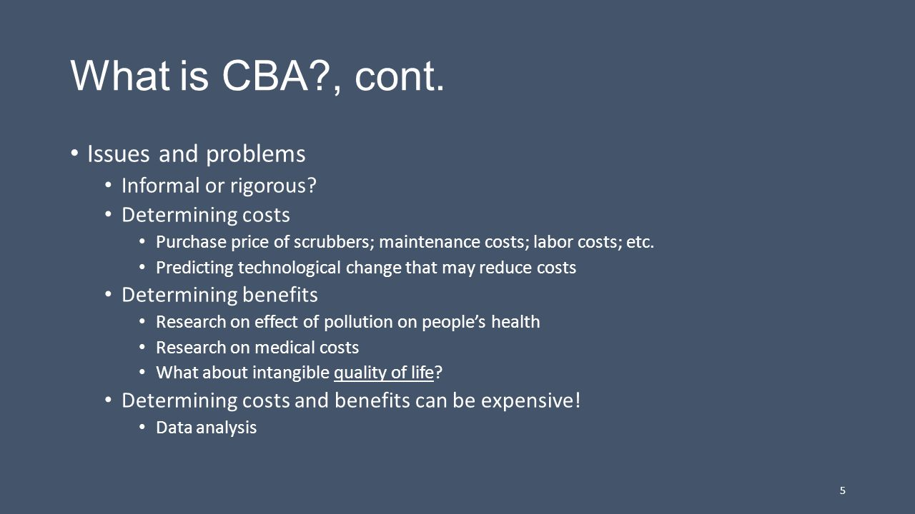 2.The Role of CBA in Agency Regulation U.S.