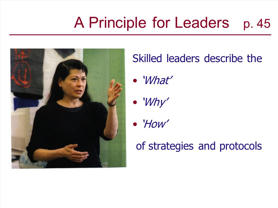 A Principle for Leaders p.