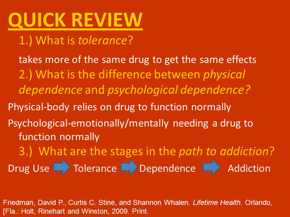 QUICK REVIEW 1.) What is tolerance.