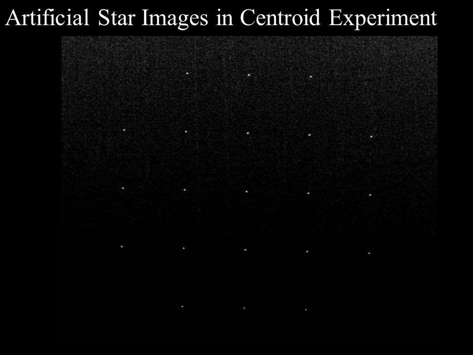 Artificial Star Images in Centroid Experiment