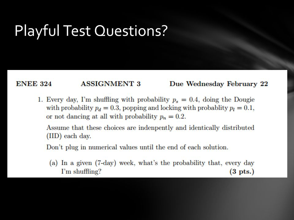 Playful Test Questions