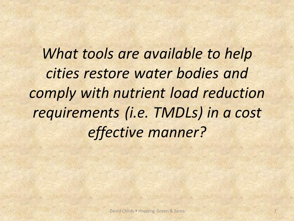 What tools are available to help cities restore water bodies and comply with nutrient load reduction requirements (i.e. TMDLs) in a cost effective man