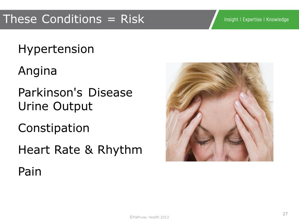 ©Pathway Health 2013 Do not wait until a fall happens to check for: Effects Side effects Interactions Plan for Falls Prevention! Anticipate Medication