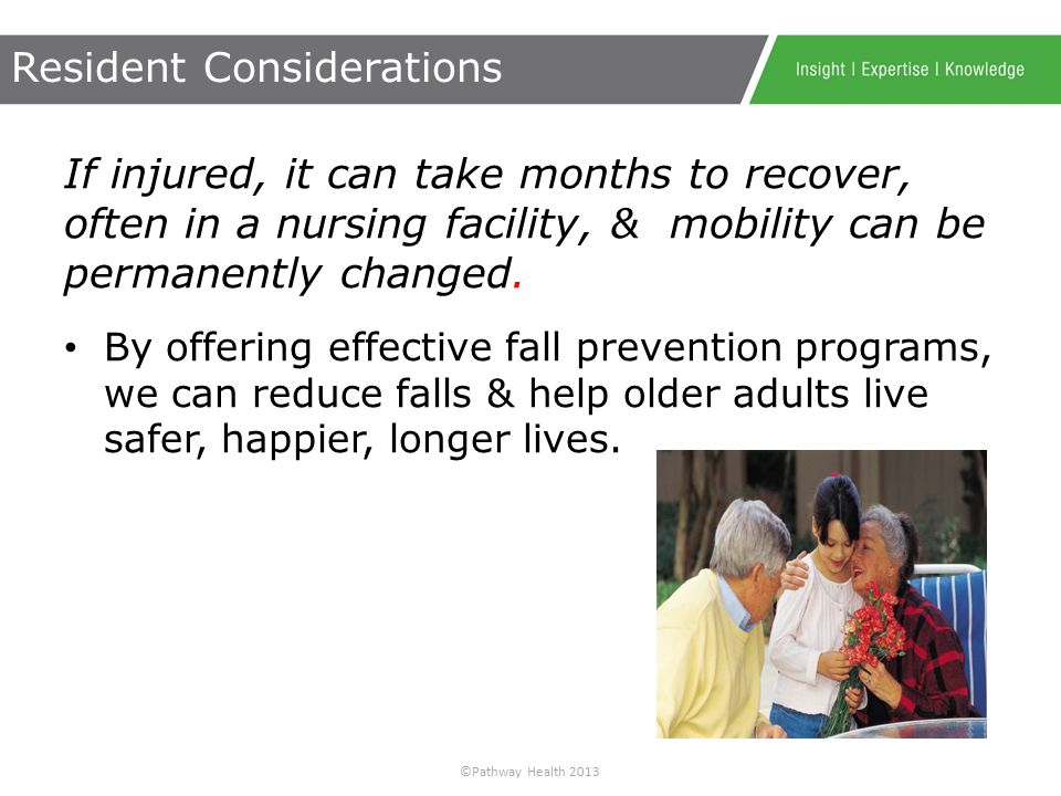 ©Pathway Health 2013 1.Discover components of a successful fall prevention program.