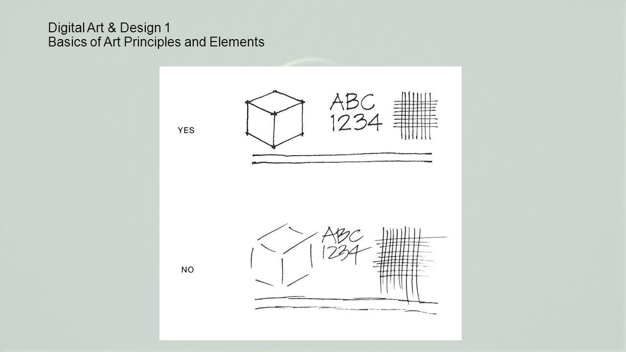 Digital Art & Design 1 Basics of Art Principles and Elements