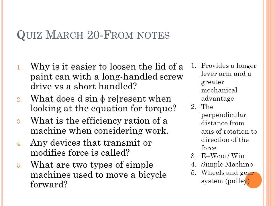 Q UIZ M ARCH 20-F ROM NOTES 1.