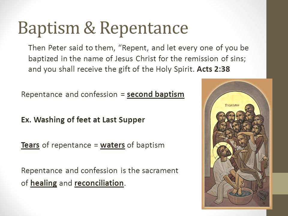 What does repentance mean.Coming from the Greek word metanoia which means changing of the mind.