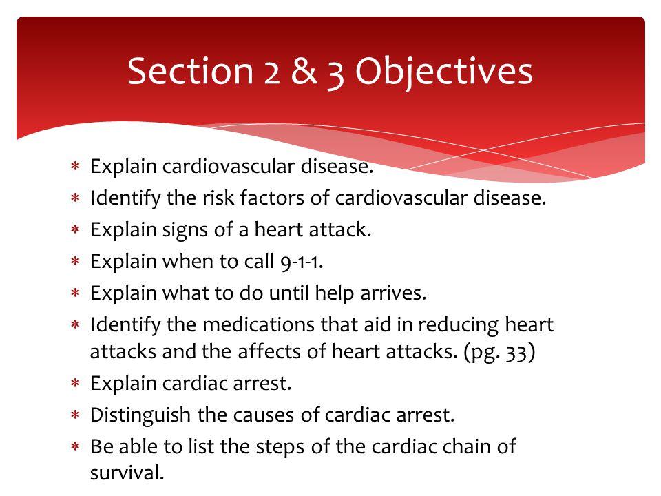  Explain cardiovascular disease.  Identify the risk factors of cardiovascular disease.