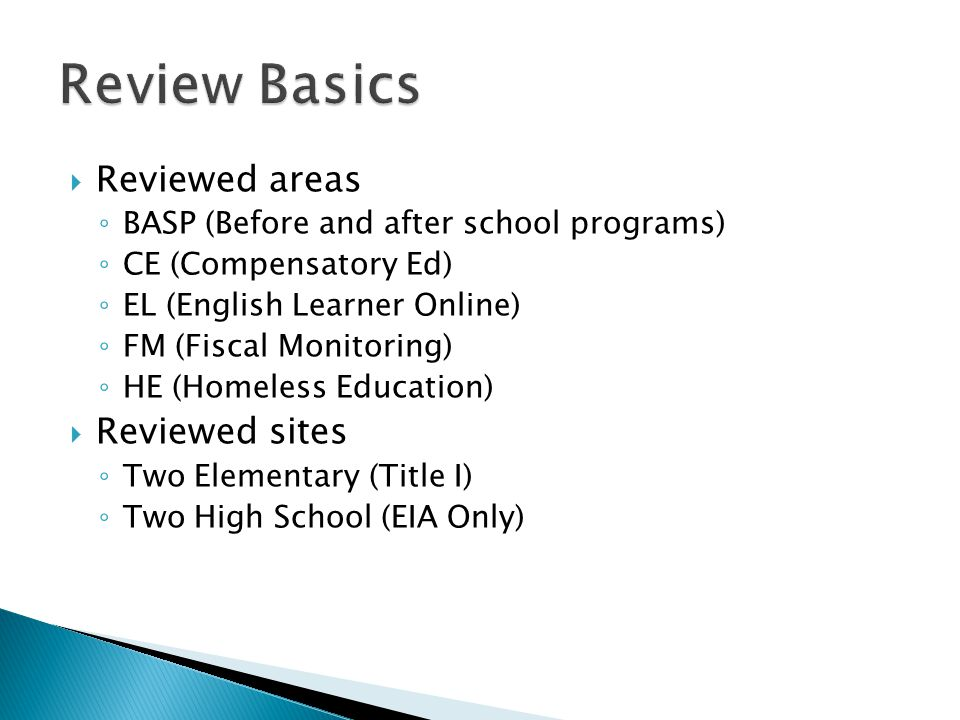  RUSD Selected for Online Review and Notified – 2/15/2013  RUSD attends CDE training for FPM – July 2013 ◦ More oriented towards in-person reviews  Upload deadline – 3/15/2014  Review Dates – 4/14 to 4/18/2014