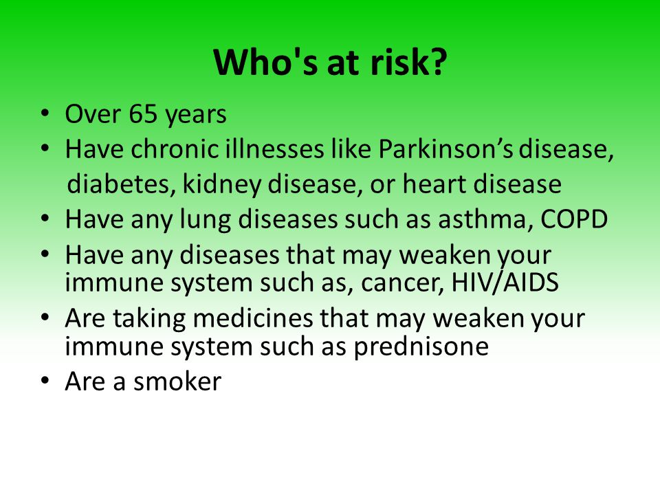 Who s at risk.
