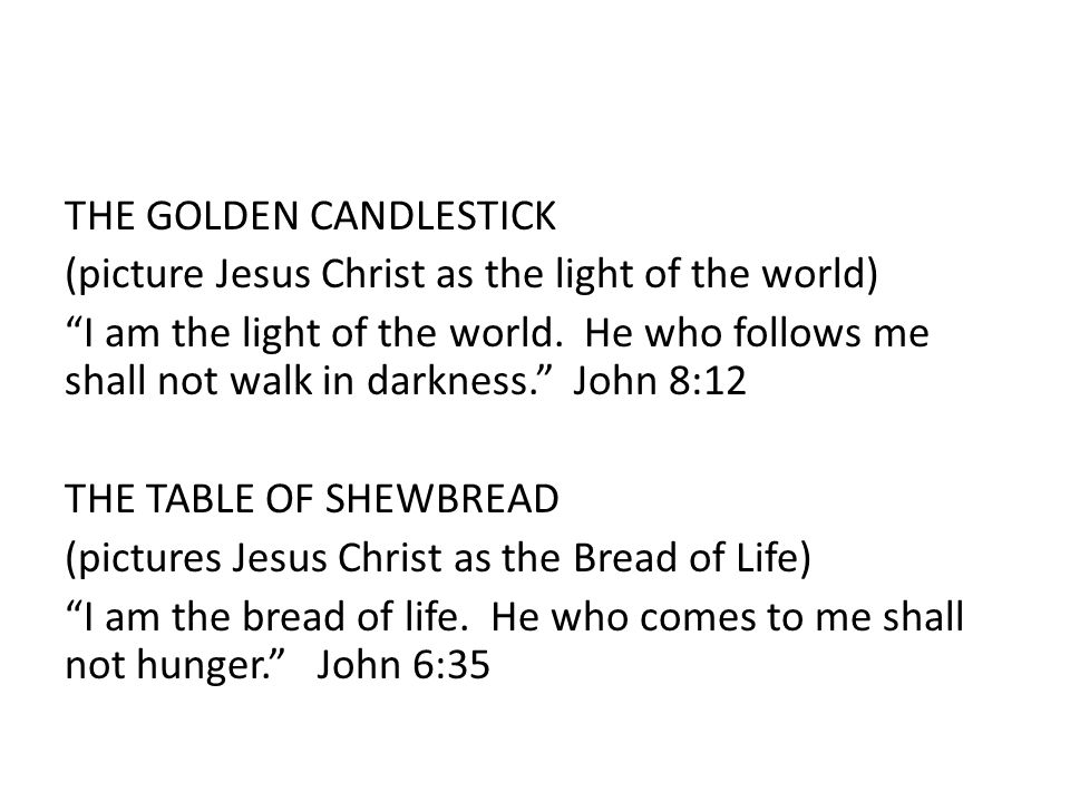 """THE GOLDEN CANDLESTICK (picture Jesus Christ as the light of the world) """"I am the light of the world. He who follows me shall not walk in darkness."""" J"""