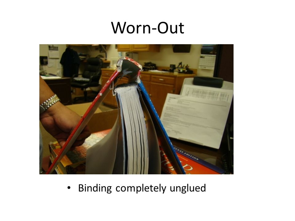 Worn-Out Binding completely unglued