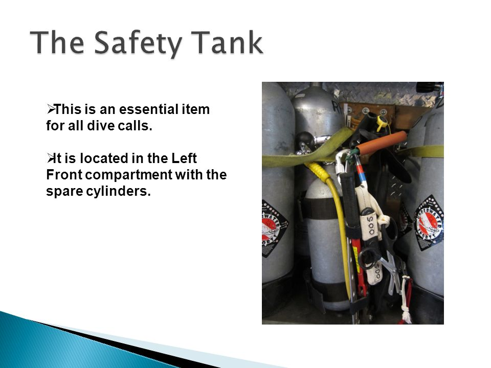  This is an essential item for all dive calls.