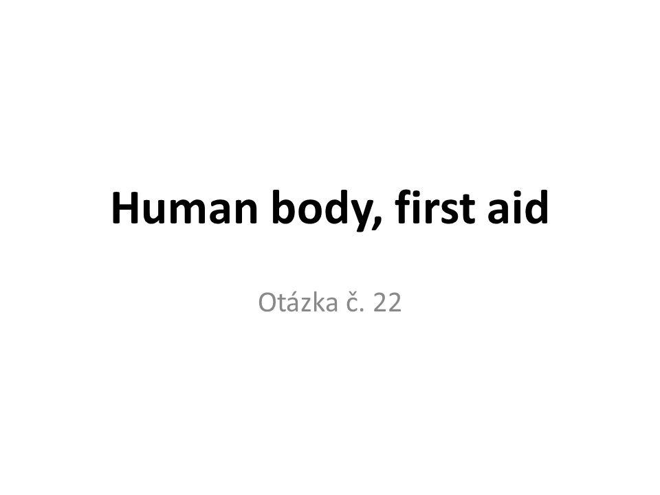 Human body, first aid Otázka č. 22