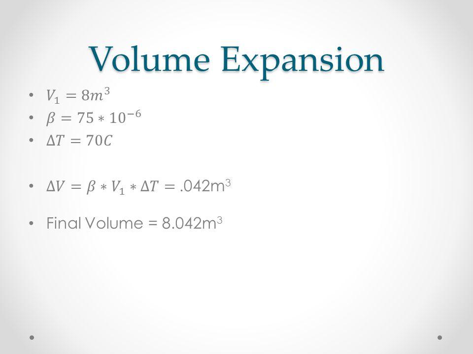 Volume Expansion