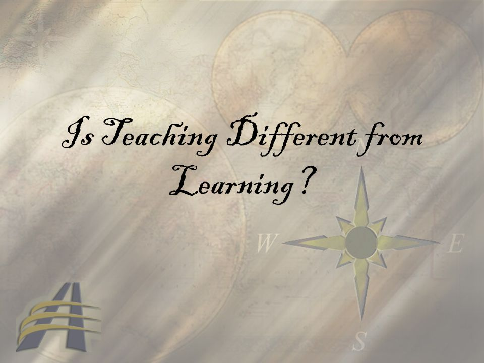 Is Teaching Different from Learning
