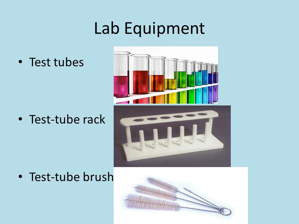 Lab Equipment Test tubes Test-tube rack Test-tube brush