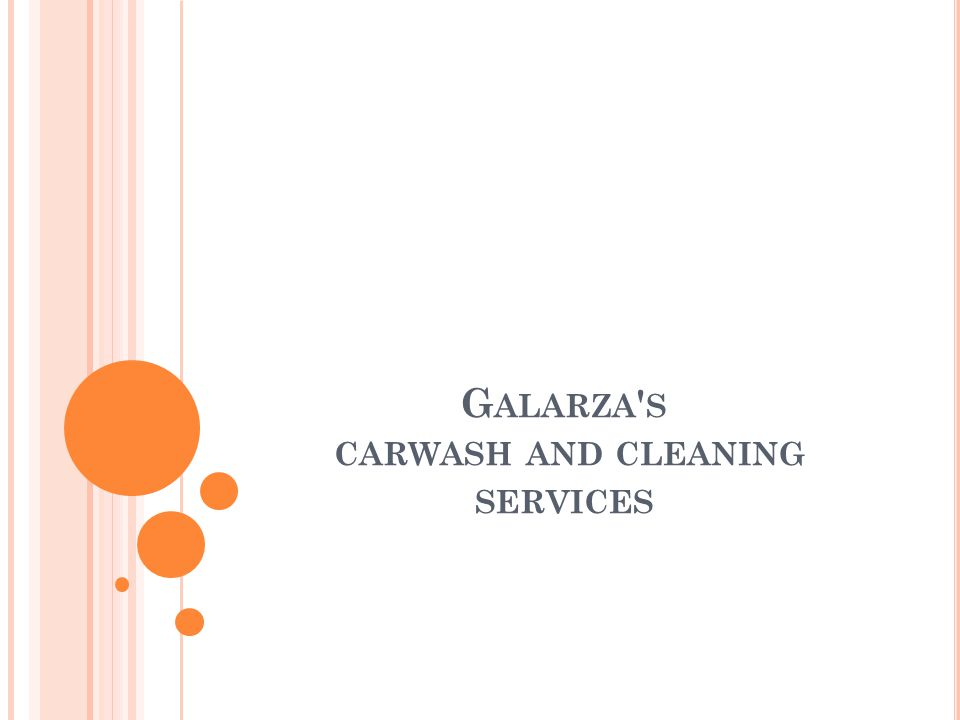G ALARZA S CARWASH AND CLEANING SERVICES
