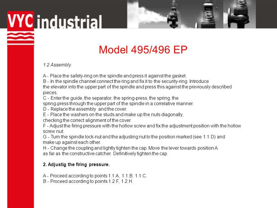 Model 495/496 EP 1.2 Assembly.