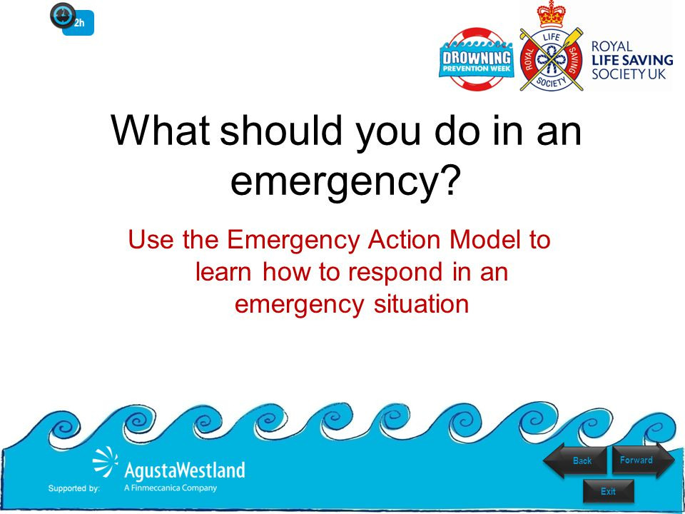 What should you do in an emergency? Use the Emergency Action Model to learn how to respond in an emergency situation 2h Back Exit Forward