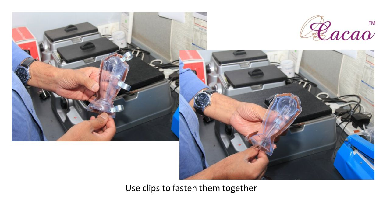 Use clips to fasten them together