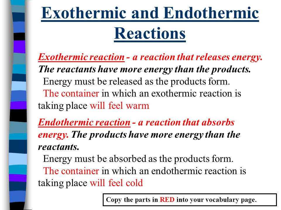 endothermic reaction Kit for study of exothermic and endothermic reaction processes innovating science exothermic reactions chemistry demo kit (supplies for 15 groups) by innovating science.
