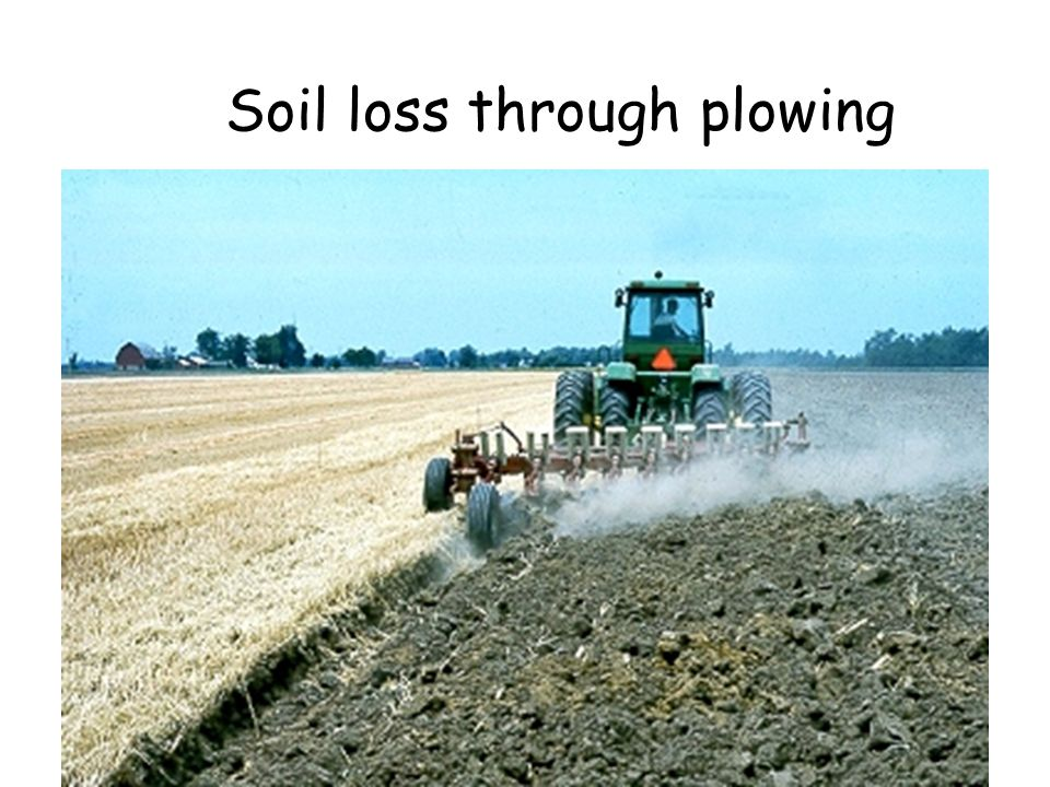 Soil loss through plowing