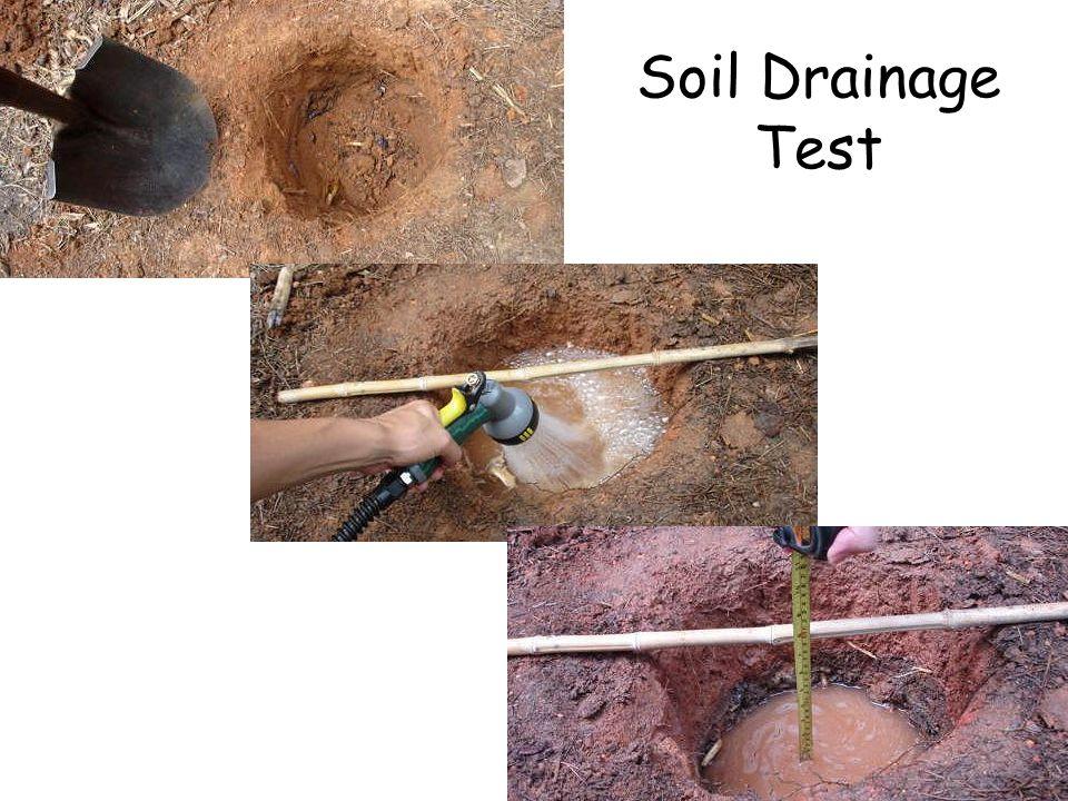 Soil Drainage Test