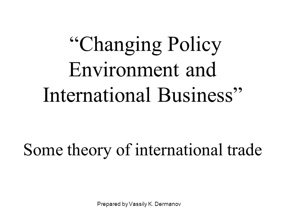 The standard trade model