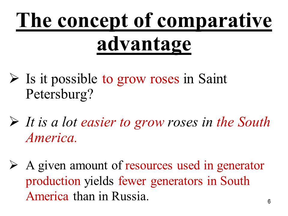 47 Introduction Comparative advantage could arise because of international: –differences in labor productivity; –differences in countries resources.