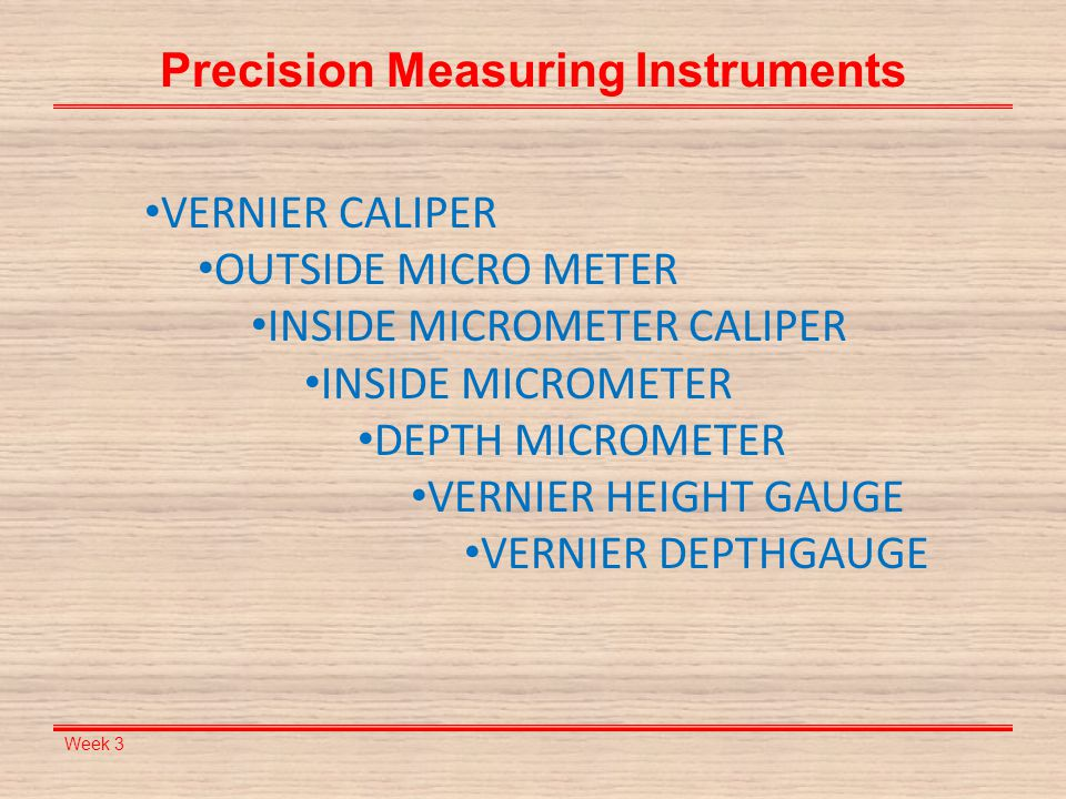 Week 3 Direct (Inside) Measuring Instruments Reading Inside Micrometers The inside micrometer reads in the same manner as the standard micrometer.