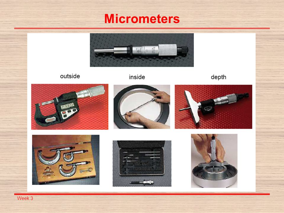 Week 3 Micrometers