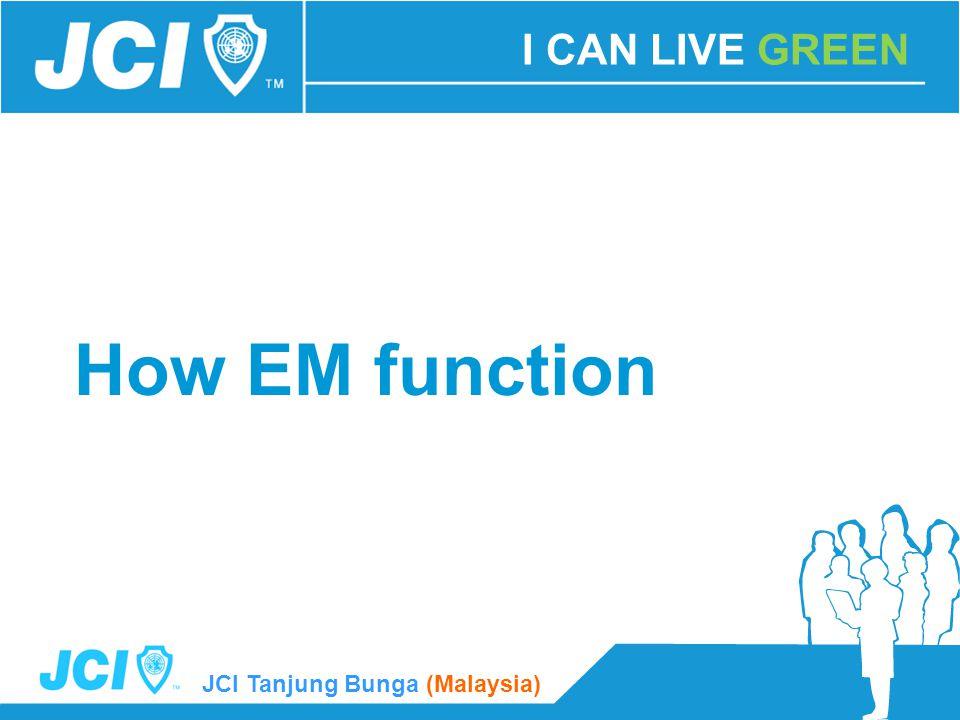 JCI Tanjung Bunga (Malaysia) How EM function I CAN LIVE GREEN