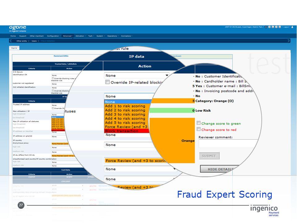 27 Fraud Expert Scoring