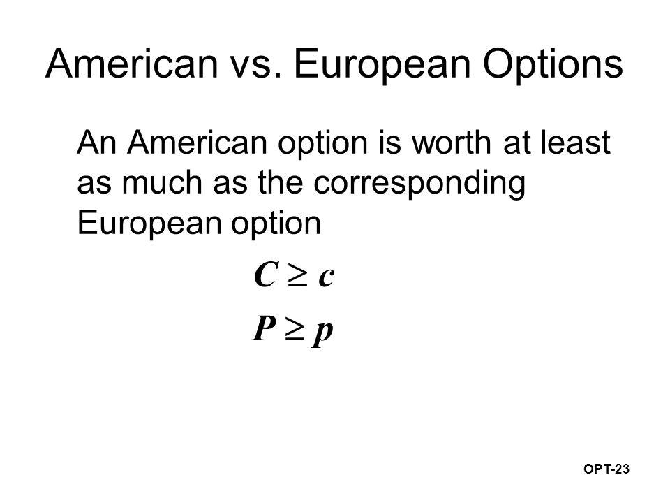 OPT-23 American vs.