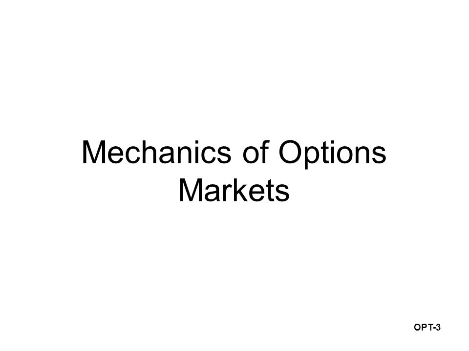 OPT-3 Mechanics of Options Markets