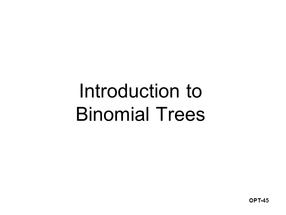 OPT-45 Introduction to Binomial Trees
