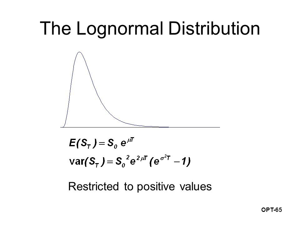 OPT-65 The Lognormal Distribution Restricted to positive values