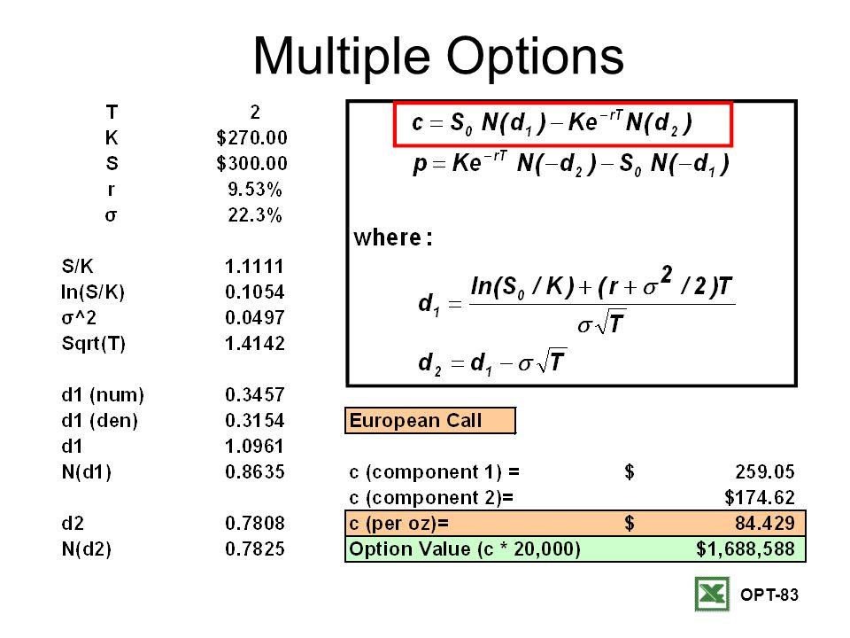 OPT-83 Multiple Options