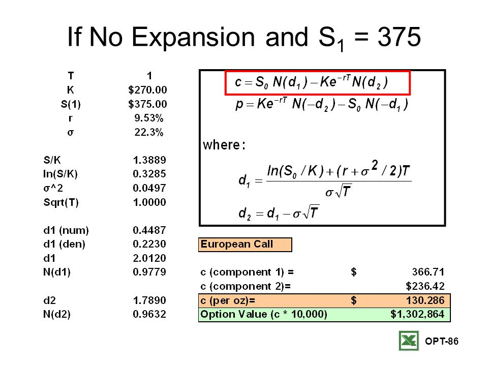 OPT-86 If No Expansion and S 1 = 375
