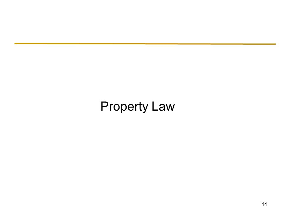 14 Property Law