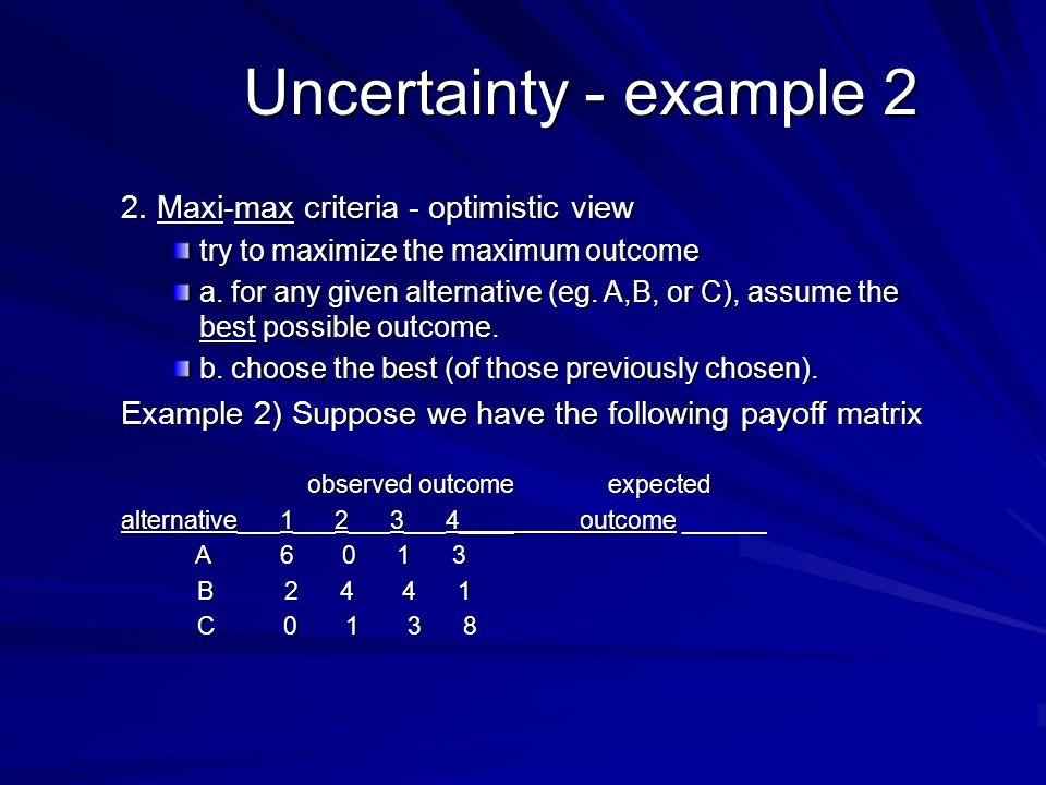 Uncertainty - example 2 2.
