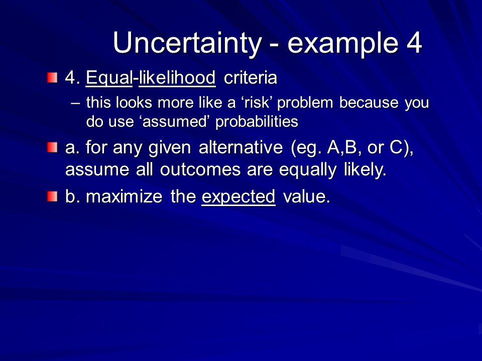 Uncertainty - example 4 4.