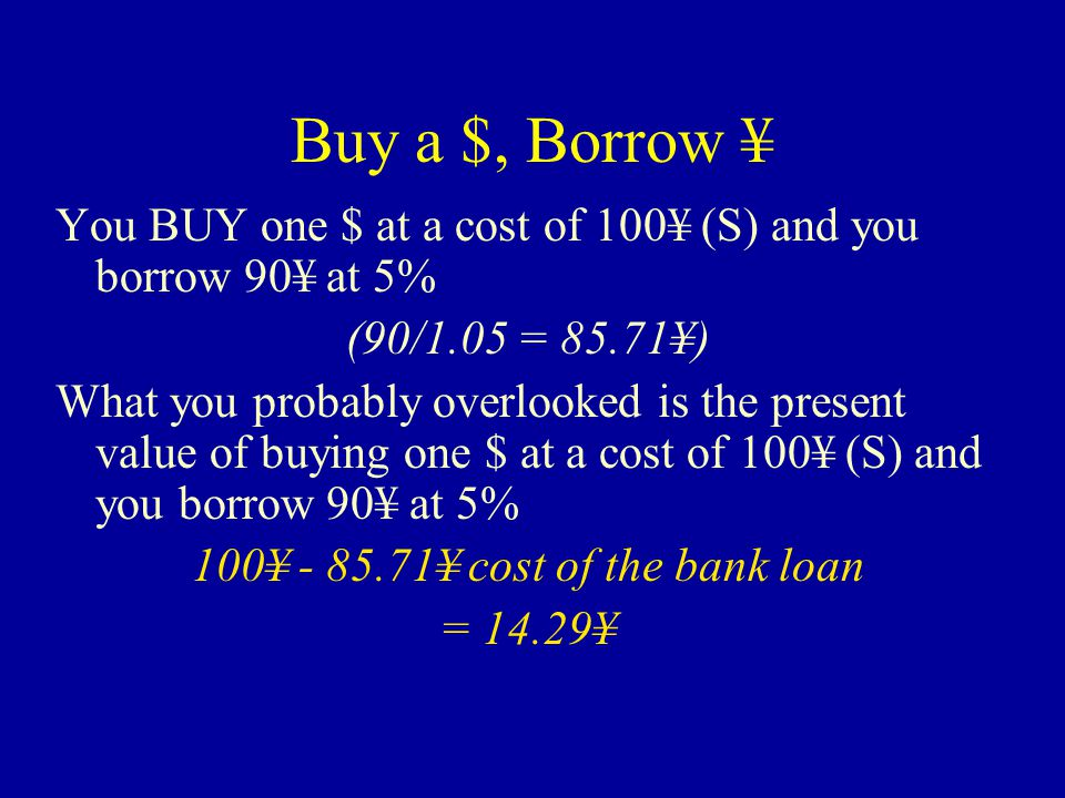 Buy a $, Borrow ¥ Right.